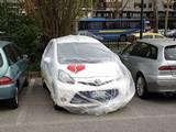 Em ação de marketing, Fiat embrulha os carros de seus funcionários