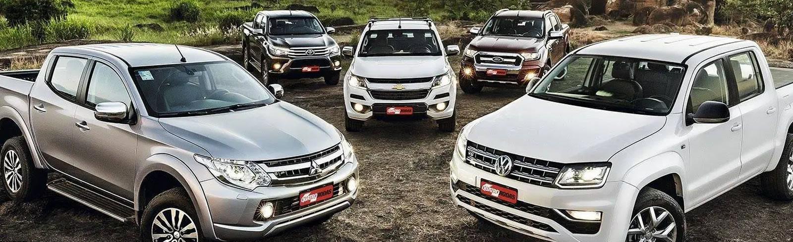 5 caminhonetes top de linha: L200, Amarok, S-10, Ranger e Triton